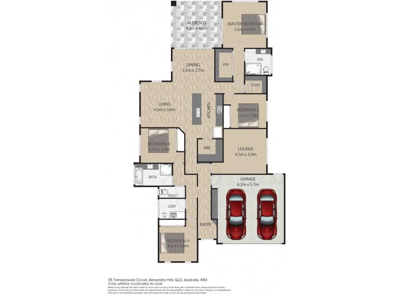 35 Tomaszewski Circuit, Alexandra Hills QLD 4161 Floorplan