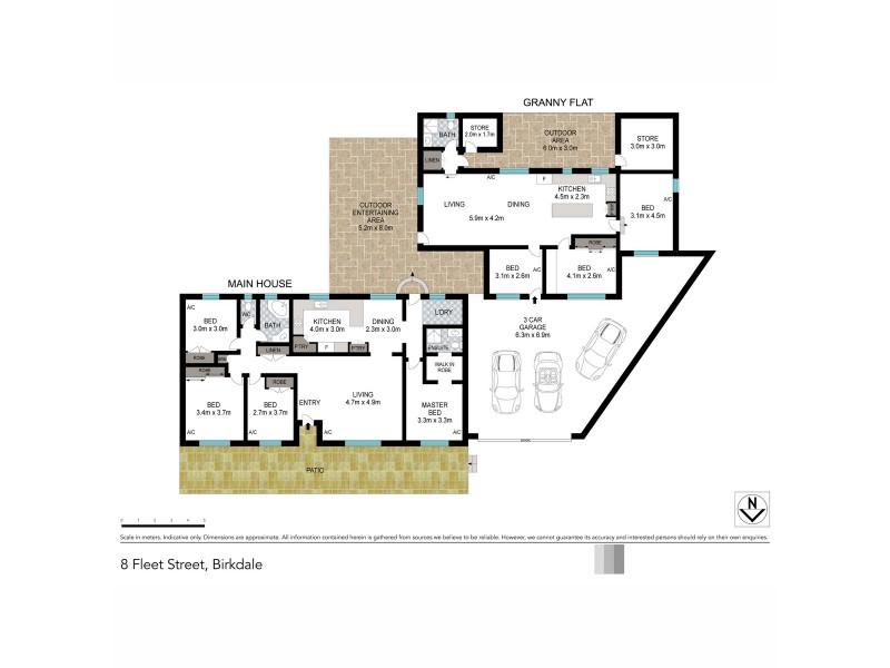 8 Fleet Street, Birkdale QLD 4159 Floorplan