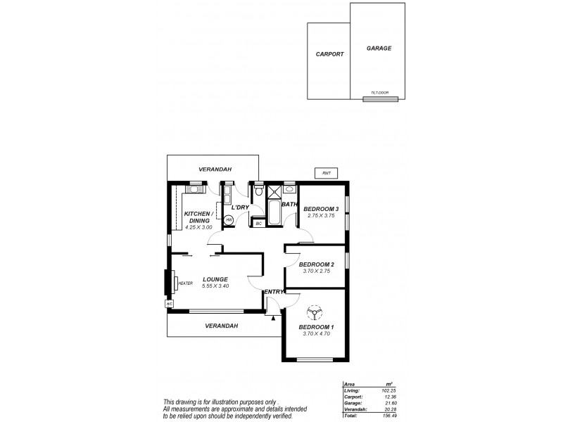 22 Kupman Street, Kilkenny SA 5009 Floorplan