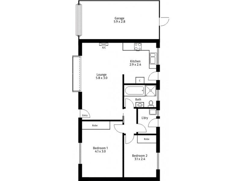 2/63 Northcote Street, Kilburn SA 5084 Floorplan