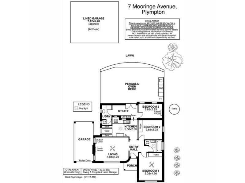 7 Mooringe Avenue, Plympton SA 5038 Floorplan