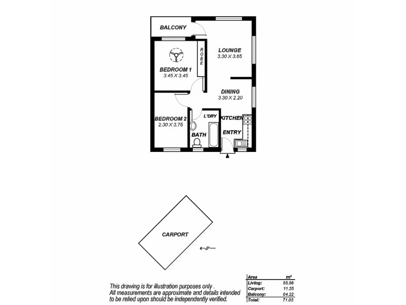 5/25a Muller Road, Hampstead Gardens SA 5086 Floorplan