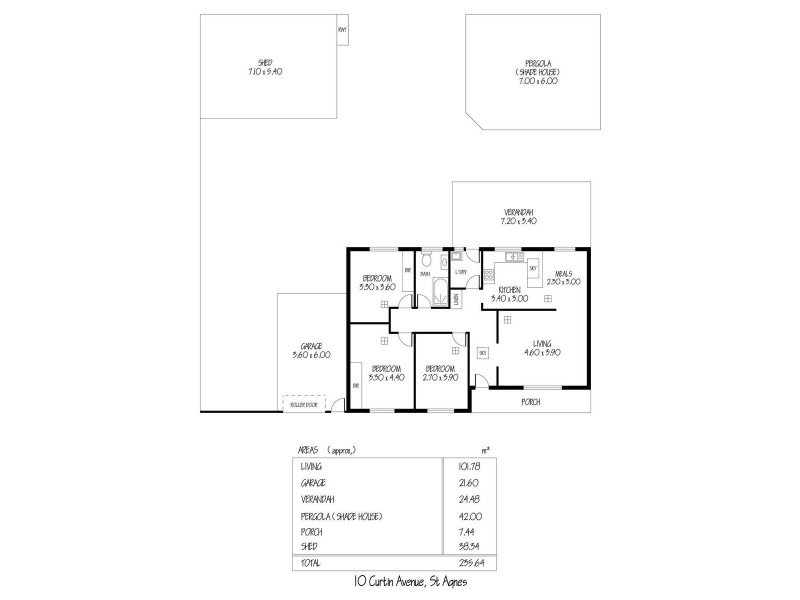 10 Curtin Avenue, St Agnes SA 5097 Floorplan