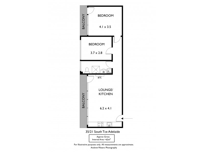 35/21 South Terrace, Adelaide SA 5000 Floorplan