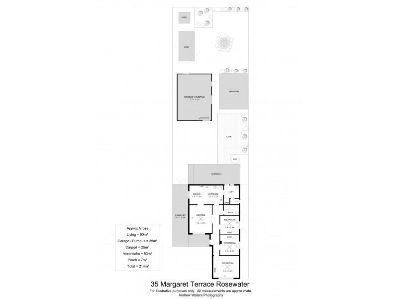 35 Margaret Terrace, Rosewater SA 5013 Floorplan