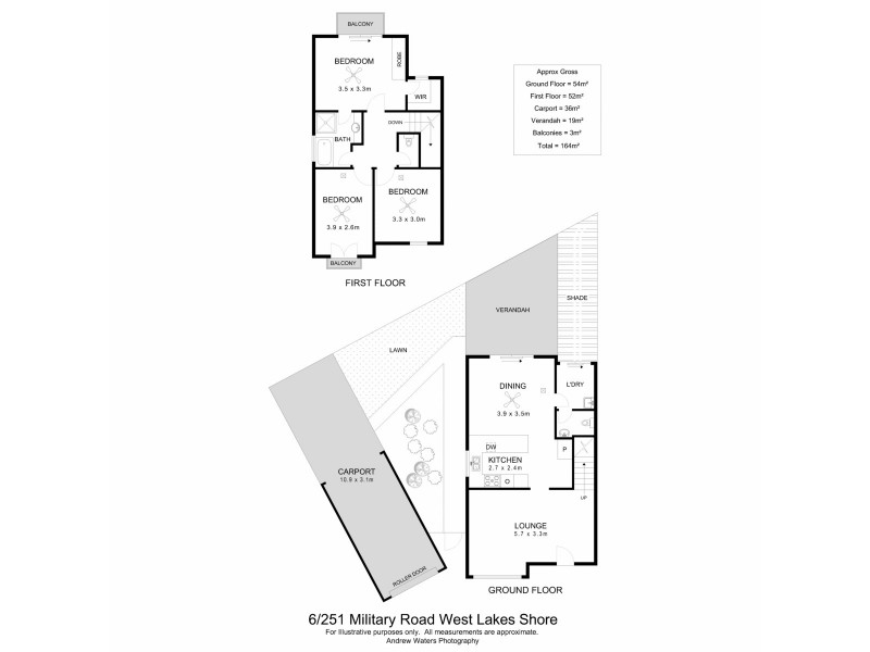 6/251 Military Road, West Lakes Shore SA 5020 Floorplan