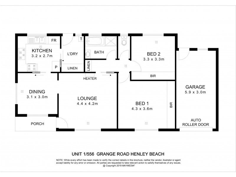1/556 Grange Road, Henley Beach SA 5022 Floorplan