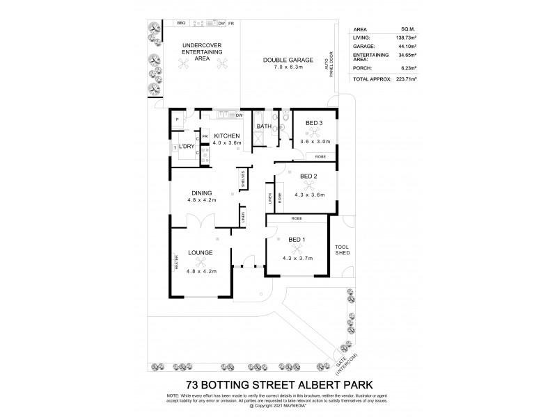 73 Botting Street, Albert Park SA 5014 Floorplan