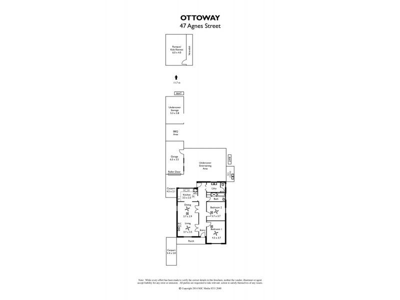 47 Agnes Street, Ottoway SA 5013 Floorplan