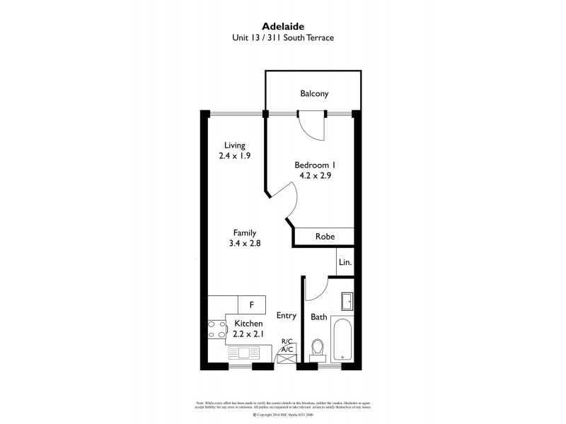 13/311 South Terrace, Adelaide SA 5000 Floorplan