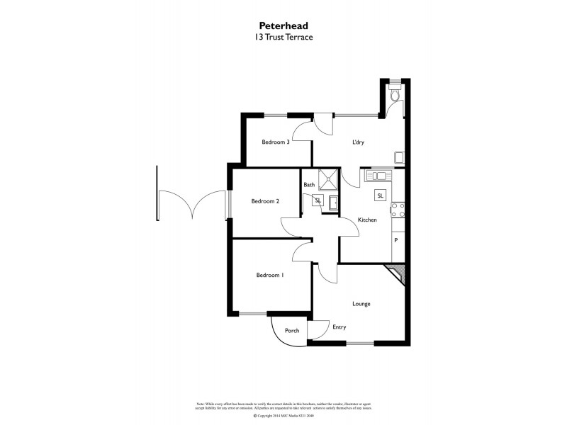 13 Trust Terrace, Peterhead SA 5016 Floorplan