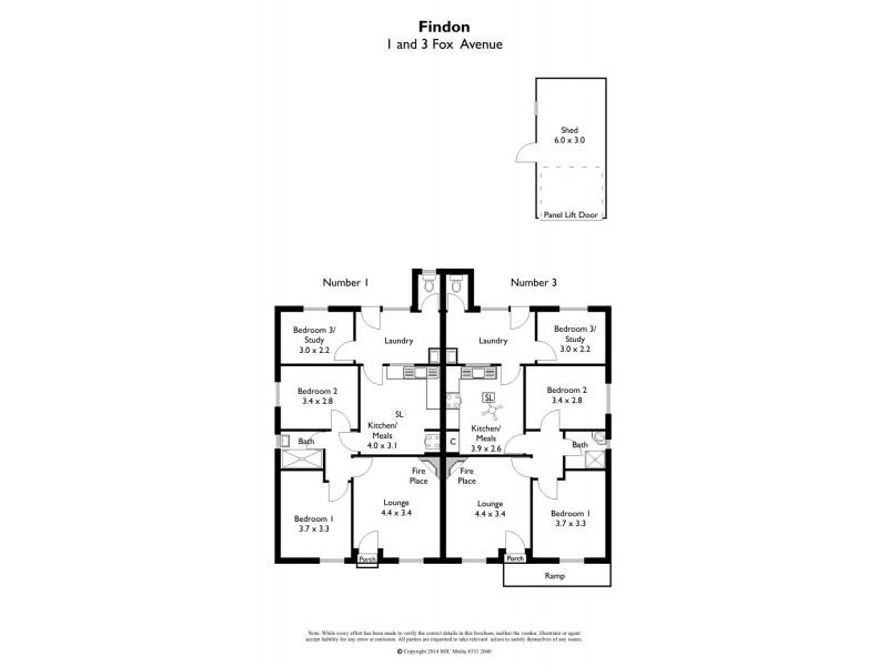 1 & 3 Foxgreen Avenue, Findon SA 5023 Floorplan