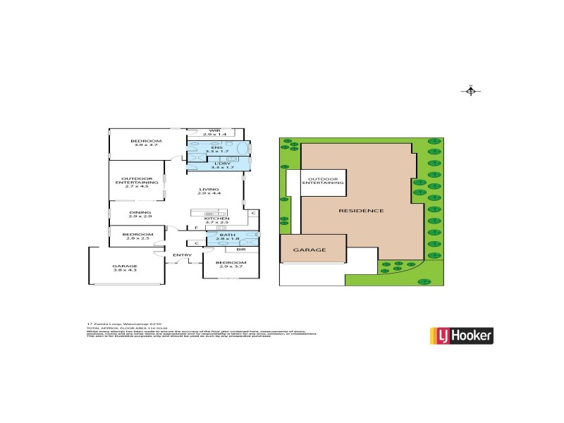 17 Zamia Loop, Wannanup WA 6210 Floorplan