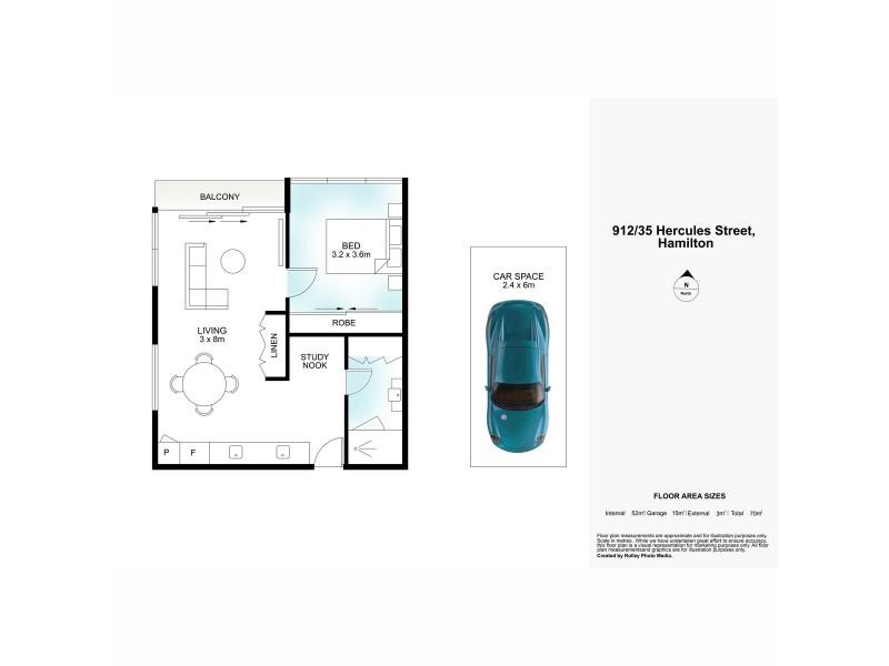 912/35 Hercules Street, Hamilton QLD 4007 Floorplan