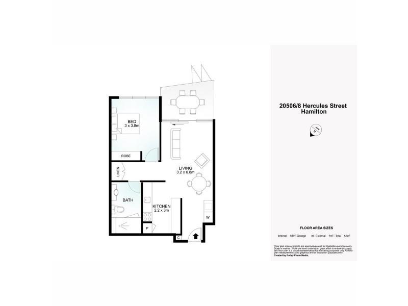 20506/8 Hercules Street, Hamilton QLD 4007 Floorplan