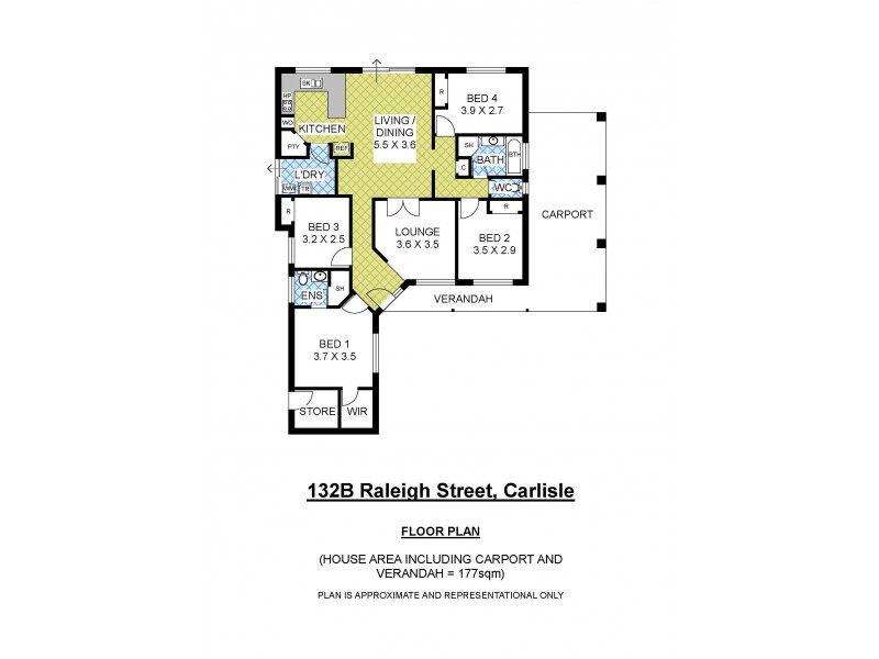 132B Raleigh Street, Carlisle WA 6101 Floorplan