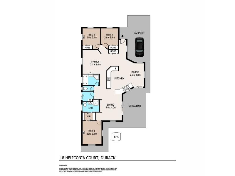 18 Heliconia Court, Durack NT 0830 Floorplan