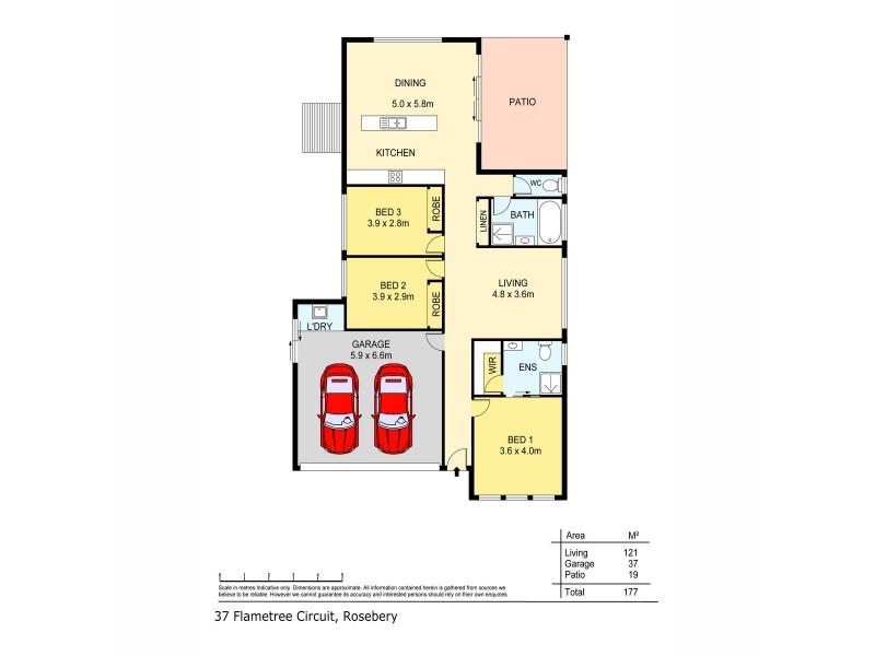 37 Flametree Circuit, Rosebery NT 0832 Floorplan