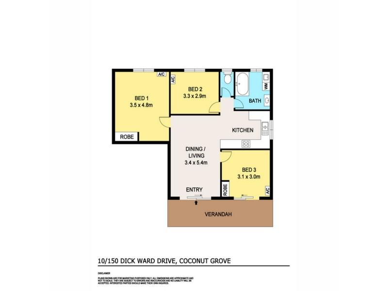 10/150 Dick Ward Drive, Coconut Grove NT 0810 Floorplan