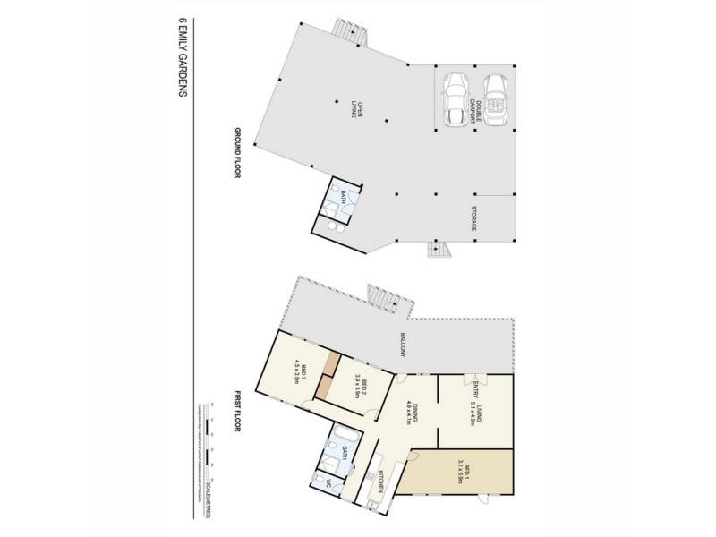 6 Emily Gardens, Alawa NT 0810 Floorplan