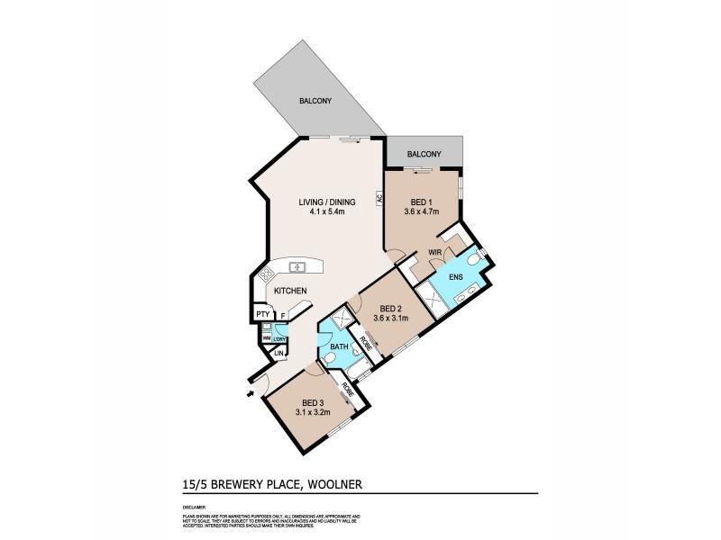 15/5 Brewery Place, Woolner NT 0820 Floorplan