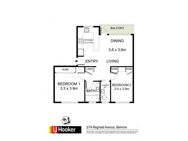 2/7a Reginald Avenue, Belmore NSW 2192 Floorplan