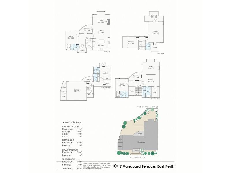 9 Vanguard Terrace, East Perth WA 6004 Floorplan