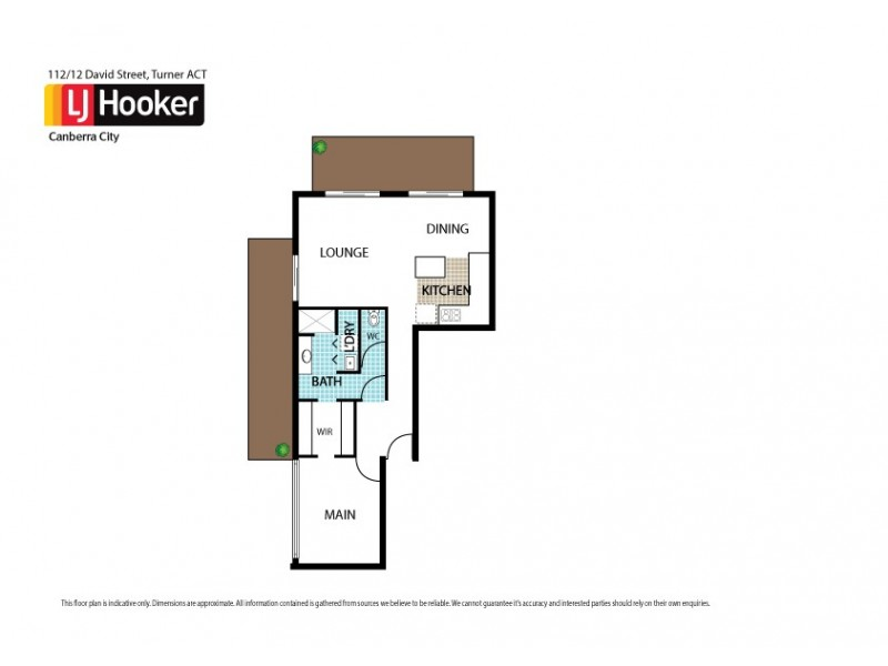 112/12 David Street, Turner ACT 2612 Floorplan