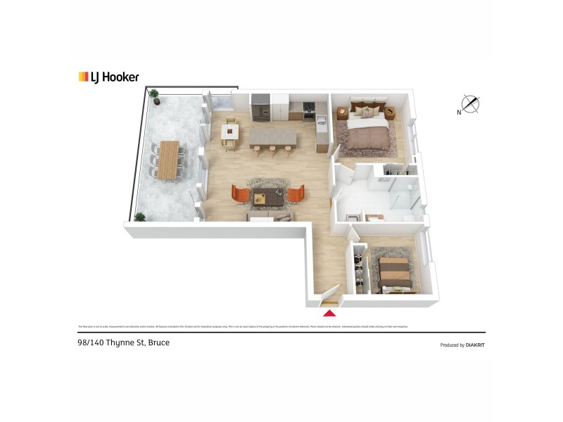 98/140 Thynne Street, Bruce ACT 2617 Floorplan