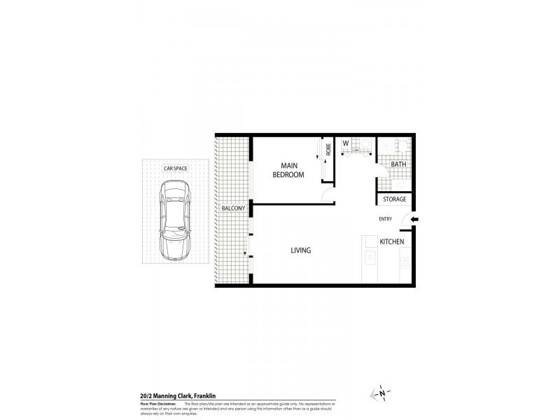 20/2 Manning Clark Crescent, Franklin ACT 2913 Floorplan
