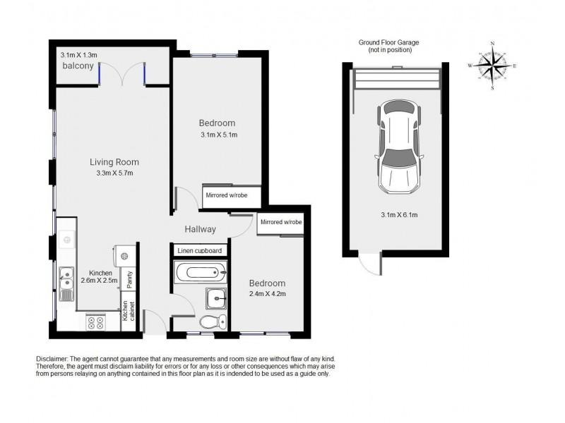 3/70 Latrobe Street, East Brisbane QLD 4169 Floorplan