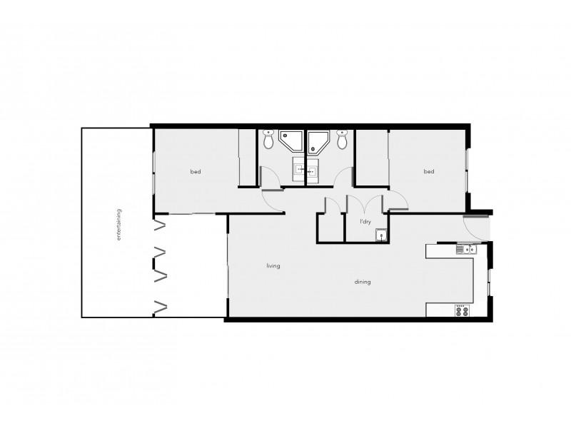 302/22 Ward Street, Mooroobool QLD 4870 Floorplan