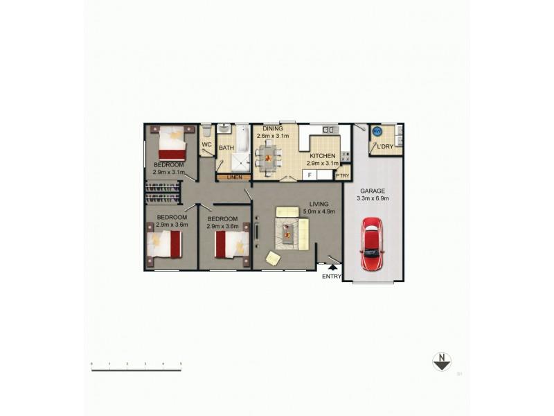 1 Epenarra Close, Hawker ACT 2614 Floorplan