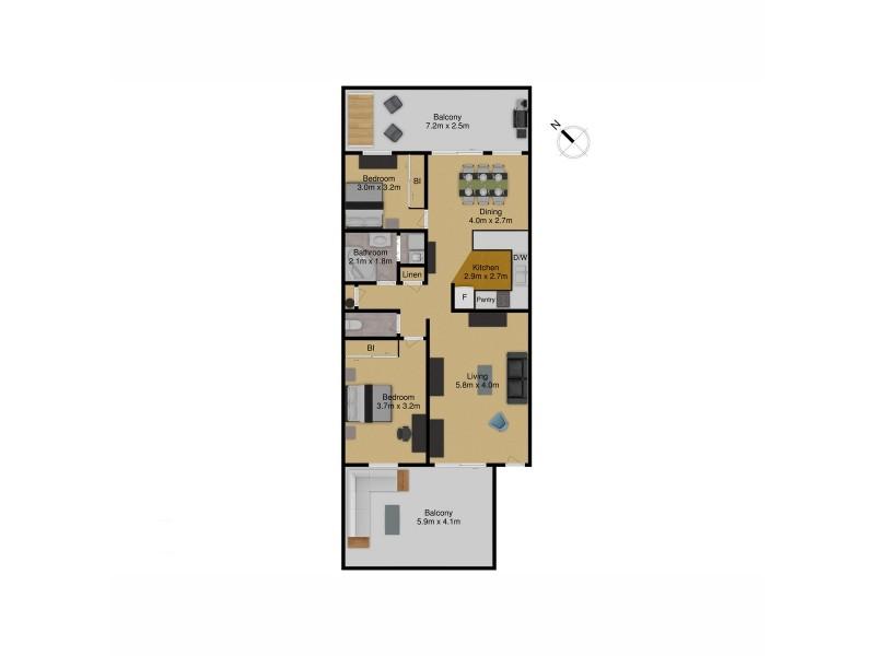 27/47 Kennedy Street, Kingston ACT 2604 Floorplan