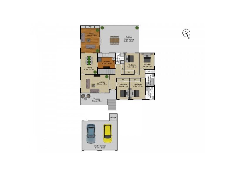 241 La Perouse Street, Red Hill ACT 2603 Floorplan