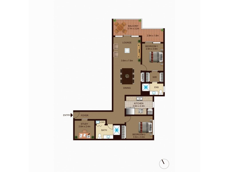 38/14-18 New South Wales Crescent, Forrest ACT 2603 Floorplan