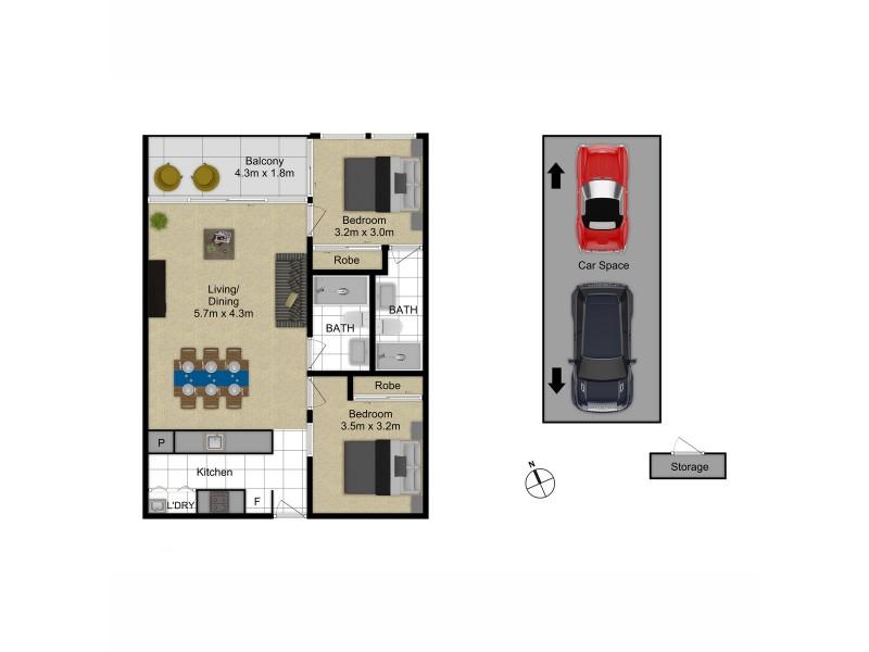 81/44 Macquarie Street, Barton ACT 2600 Floorplan