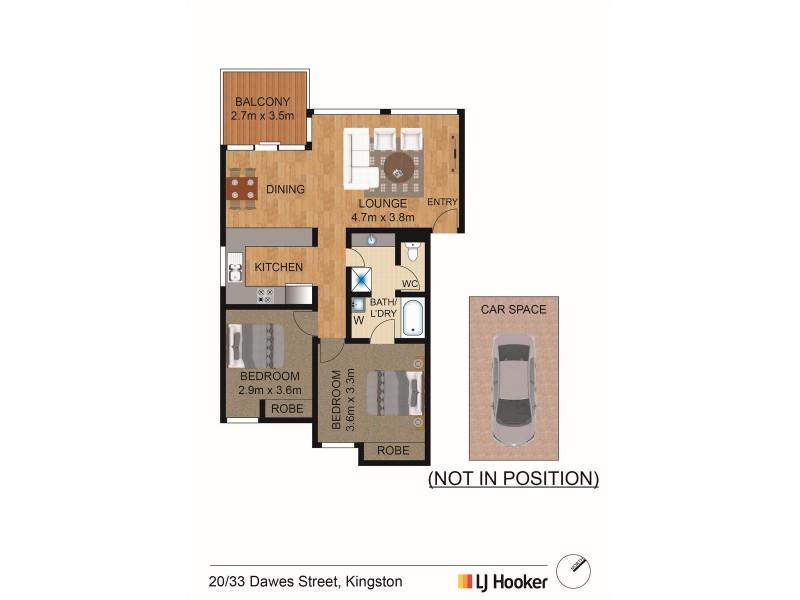 20/33 Dawes Street, Kingston ACT 2604 Floorplan
