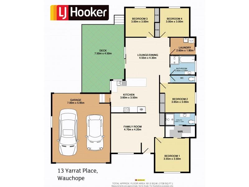 13 Yarrat Place, Wauchope NSW 2446 Floorplan