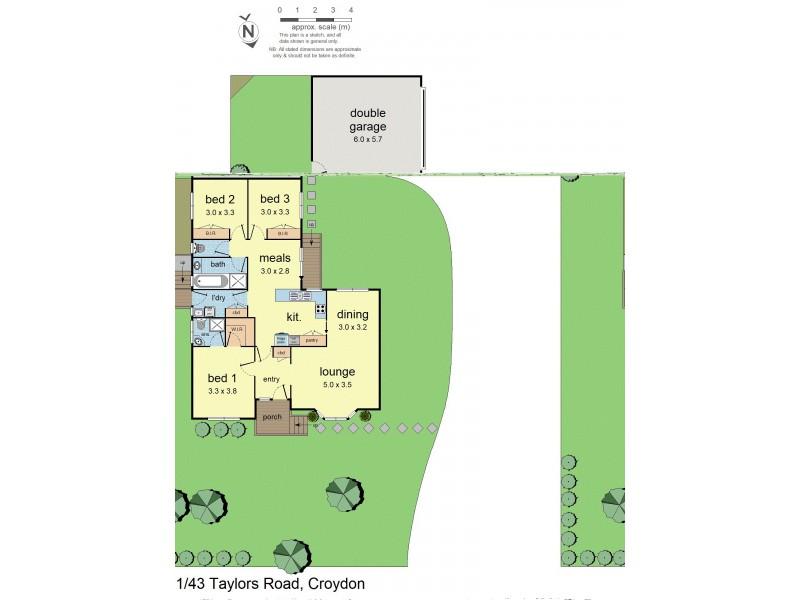Unit 1/43 Taylors Road, Croydon VIC 3136 Floorplan
