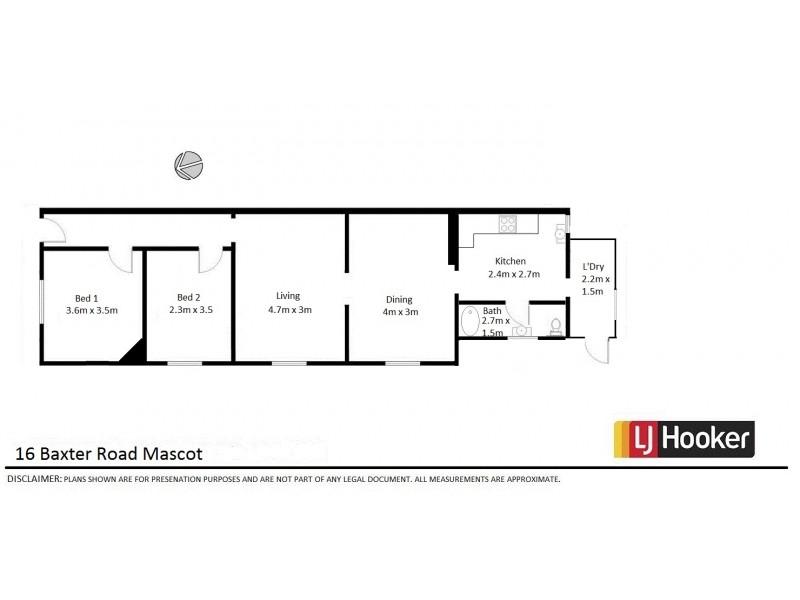 16 Baxter Road, Mascot NSW 2020 Floorplan