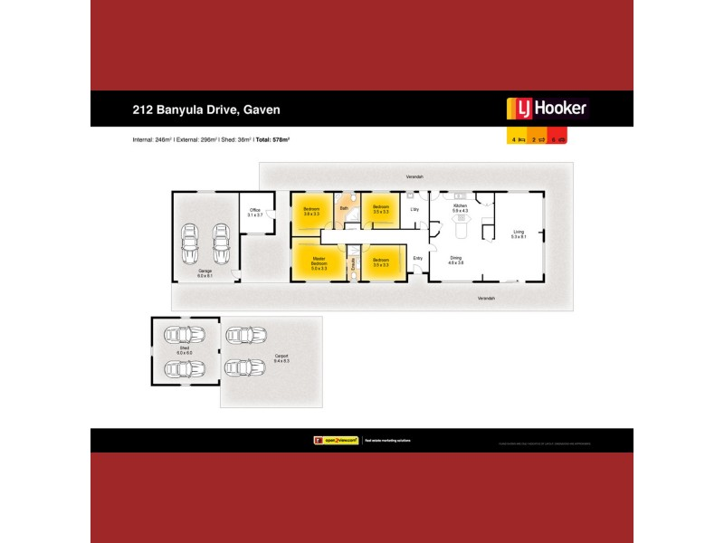212 Banyula Drive, Gaven QLD 4211 Floorplan
