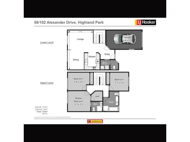 58/102 Alexander Drive, Highland Park QLD 4211 Floorplan