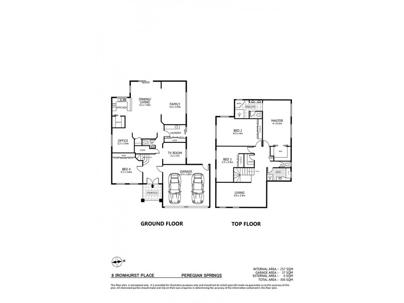 8 Ironhurst Place, Peregian Springs QLD 4573 Floorplan