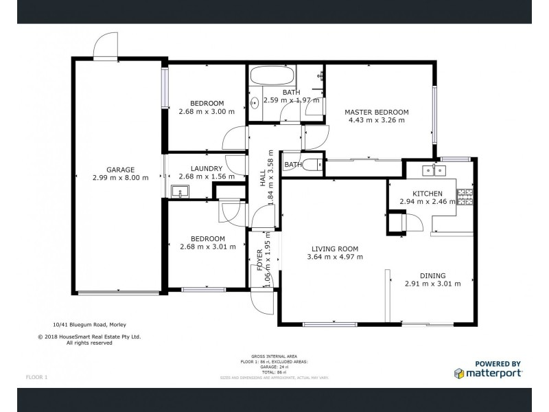 10/41 Bluegum Road, Morley WA 6062 Floorplan