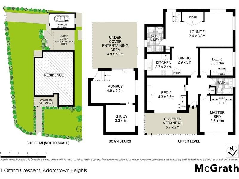 1 Orana Crescent, Adamstown Heights NSW 2289 Floorplan