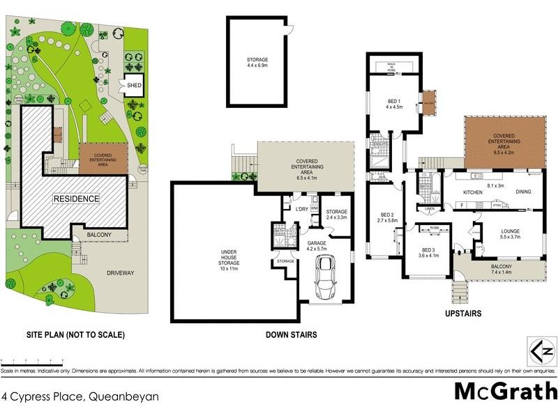 4 Cypress Place, Queanbeyan NSW 2620 Floorplan