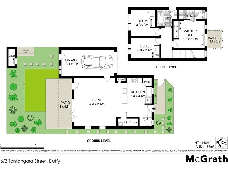 6/3 Tantangara Street, Duffy ACT 2611 Floorplan