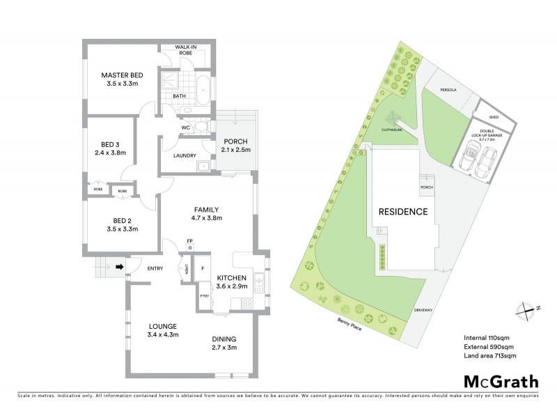 4 Benny Place, Chisholm ACT 2905 Floorplan