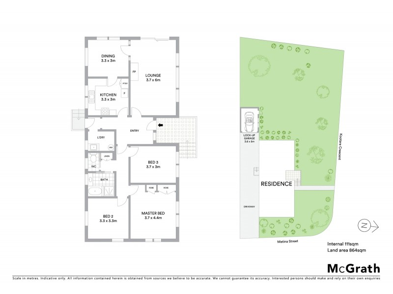 82 Kootara Crescent, Narrabundah ACT 2604 Floorplan